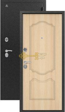 Дверь Сибирь, S-1\1, 2 замка, 1мм сталь, (серебро+седой дуб)