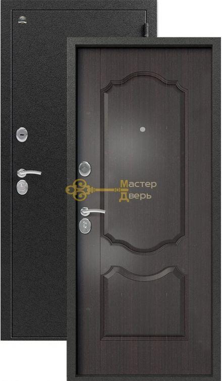Дверь Сибирь, S-1\1, 2 замка, 1мм сталь, (серебро+венге)