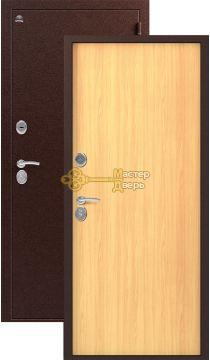 Дверь Сибирь, S-1, 2 замка, 1мм сталь, (медь+миланский орех)