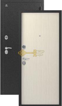 Дверь Сибирь, S-1, 2 замка, 1мм сталь, (серебро+капучино 3D)