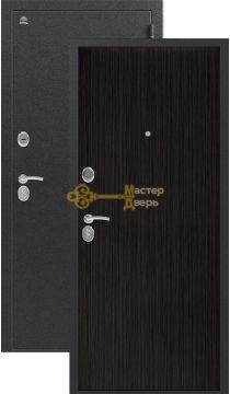 Дверь Сибирь, S-1, 2 замка, 1мм сталь, (серебро+венге 3D)