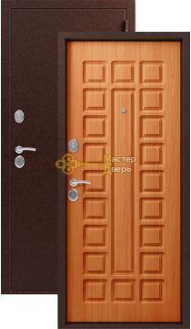 Дверь Сибирь, S-2, 2 замка, 1,5мм сталь, (медь+миланский орех)