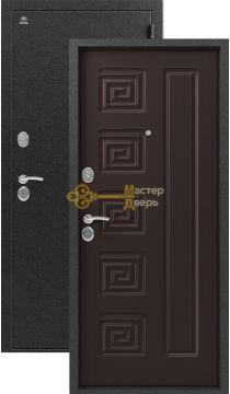 Дверь Сибирь, S-2, 2 замка, 1,5мм сталь, (серебро+венге)