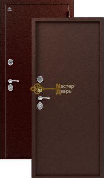 Дверь Сибирь, S-3\1, 2 замка, 1,5мм сталь, (медь)