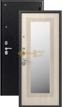 Дверь Сибирь, S-4, 2 замка, 1,2мм сталь, (чёрный муар+седой дуб)