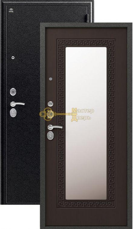 Дверь Сибирь, S-4, 2 замка, 1,2мм сталь, (чёрный муар+венге)
