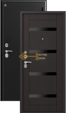 Дверь Сибирь, S-5, 2 замка, 1,2мм сталь, (чёрный шёлк+венге )