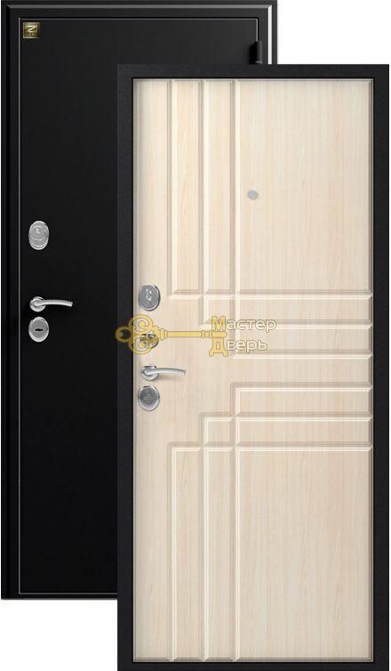 Дверь Зевс, Z-2, 2 замка, 1,5мм сталь, (чёрный шёлк+клён шёлк)