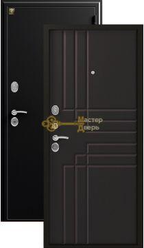 Дверь Зевс, Z-2, 2 замка, 1,5мм сталь, (чёрный шёлк+венге шёлк)