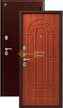 Дверь Зевс, Z-4, 2 замка, 1,5мм сталь, (медь антик+итальянский орех)