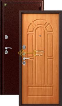 Дверь Зевс, Z-4, 2 замка, 1,5мм сталь, (медь антик+миланский орех)