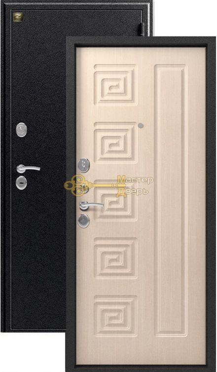 Дверь Зевс, Z-4, 2 замка, 1,5мм сталь, (серебро антик+млечный дуб)