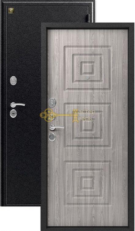 Дверь Зевс, Z-4, 2 замка, 1,5мм сталь, (серебро антик+серое дерево)