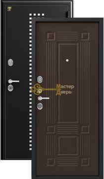 Дверь Зевс, Z-5 италия, 2 замка, 1,5мм сталь, (чёрный шёлк с перфорацией+венге шёлк)