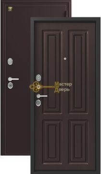 Дверь Зевс, Z-6, 2 замка, 2мм сталь, (шёлк бордо+венге шёлк)