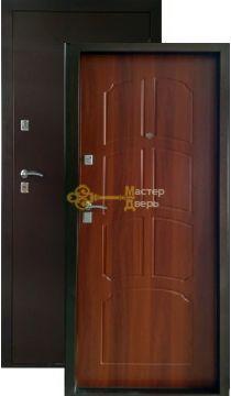 Дверь ЗСД Сибирь Сибирь-Лайт, 2 замка, 1,2 мм сталь, (медь+итальянский орех)