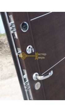 Дверь ЗСД Сибирь Сибирь-Лайт, 2 замка, 1,2 мм сталь, (медь+венге)