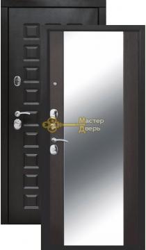 Сенатор 12 см зеркало MAXI, 2 замка, 1,4 мм металл, венге+венге.