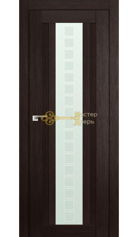 Профиль Дорс №16X-Модерн, стекло квадро, цвет венге мелинга, остекленная