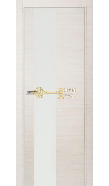 Профиль Дорс № 5 Z, стекло белый лак, цвет эш вайт кроскут, остекленная