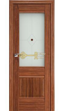 Профиль Дорс X-классика №2Х-Классика, стекло узор, цвет орех амари, остекленная
