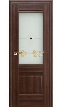 Профиль Дорс X-классика №2Х-Классика, стекло узор, цвет орех сиена, остекленная