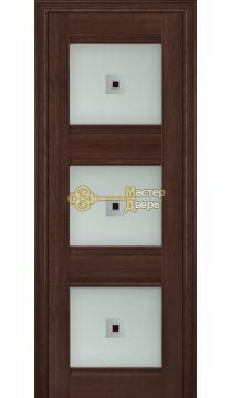 Профиль Дорс X-классика №4Х-Классика, стекло узор, цвет орех сиена, остекленная
