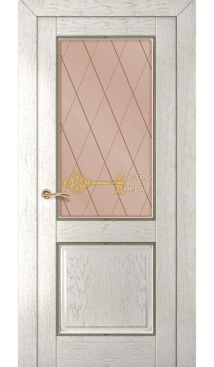 Румакс Гранд ДО, стекло сатинат бронза гравировка, цвет капучино, остекленная