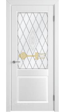 Румакс Ника-2 ДО, стекло сатинат бронза гравировка, цвет белый матовый, остекленная