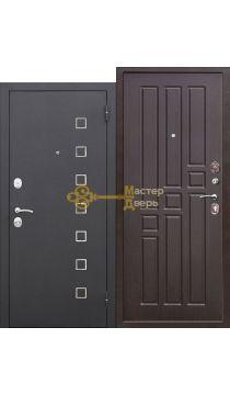 Дверь входная Турин. 2 замка. (чёрный шёлк+венге)