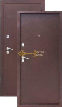 Дверь Сибирия мет/мет, 2 замка, 1,2 мм металл, (медь антик)