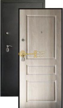 Дверь Сибирия Люкс, 2 замка, 2 мм металл, (чёрный муар+софт белый)