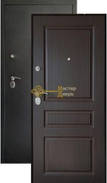 Дверь Сибирия Люкс, 2 замка, 2 мм металл, (серебро+венге)