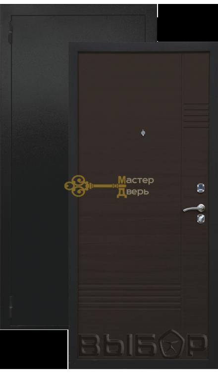 Модерн. 2 замка, 1,2мм металл (чёрный бархат+венге)