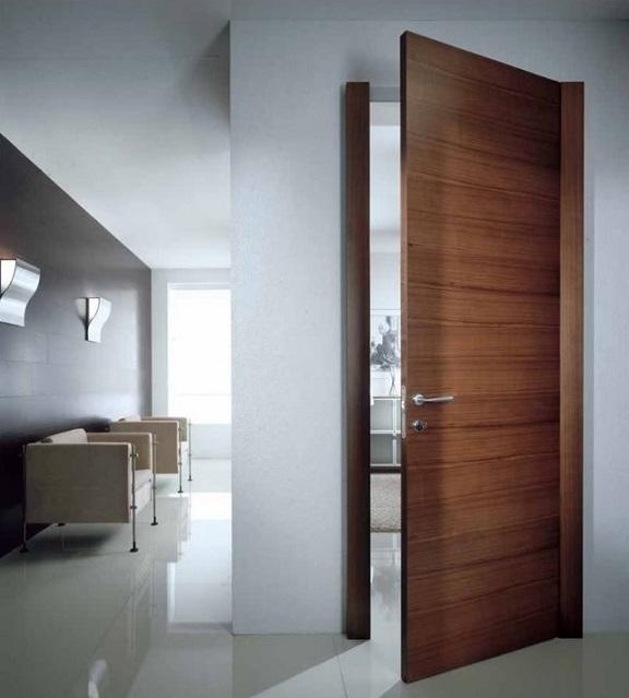 Офисная дверь шпонированная